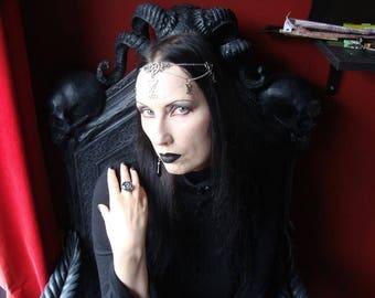 Lucifer Tiara - luciferian headpiece occult pentagram gothic