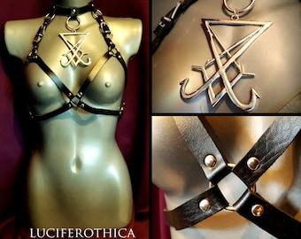 Huge Sigil of Lucifer Body Harness