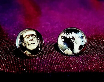 The Munsters Earstuds - goth gothic vampire frankenstein lily herman munster adams family alike