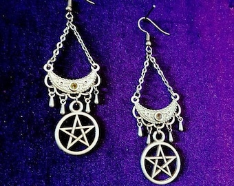 Elegant Pentagram Earrings