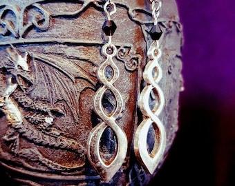 Entwined Infinity Earrings
