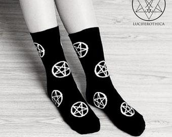 Inverted Pentagram Socks