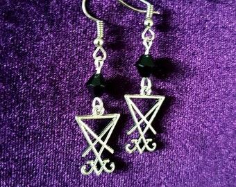 Mini Sigil of Lucifer Earrings (2Styles)