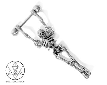 Skeleton Nipple Piercing