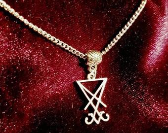 Mini Sigil of Lucifer Necklace