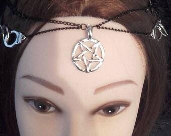 Power Tiara Headchain - gothic occult satanic luciferian break the chains freedom head piece