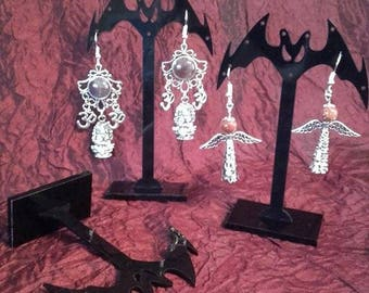 Vampire Bat Earring Display (Set of 3)