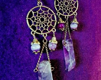 Clear The Past Amethyst Earrings