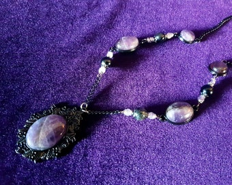 Victorian Gothic Amethyst Necklace