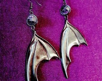 Black BatWings Earrings (Resin)