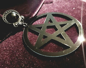 Big Onyx Pentagram Earstuds & Plugs