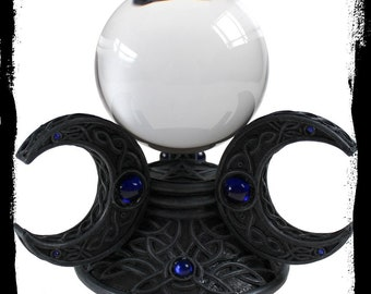 Crystal Ball - Divination Crystal Ball Witchcraft Ritual Veils Shadows Gothic Occult