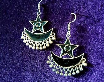 Moon Sun Star Earrings