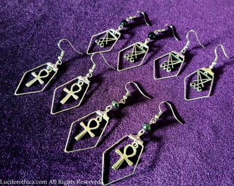 Classy Earrings (Sigil of Lucifer or Ankh | 4 styles)