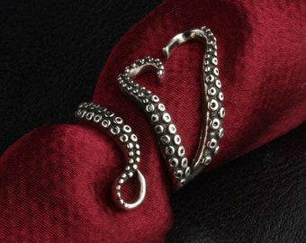 Sterling Silver Cthulhu Tentacle Ring