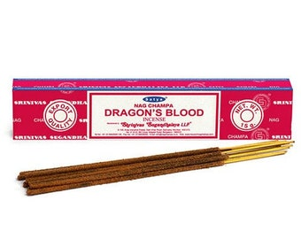 Satya Nag Champa Dragon's Blood Incense Sticks - occult spiritual incense