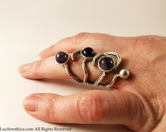 Amethyst Branches Ring