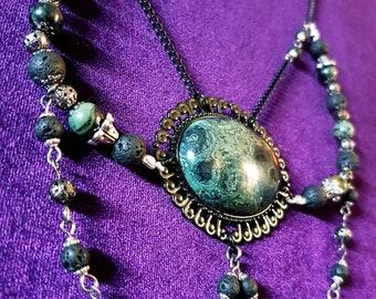 Lava & Kambaba Stone Necklace
