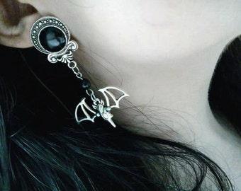 Vampire Bat Earrings/Plugs