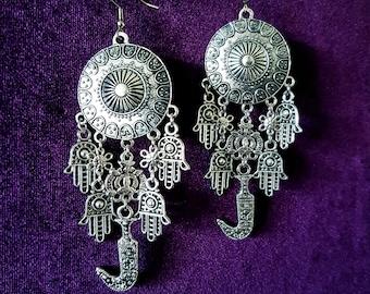 Jambiya Hamsa Protection Earrings