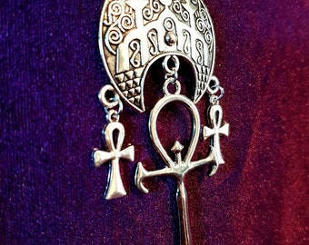 Temple of The Serpent Vampire Necklace - occult vampire ankh temple snake shrine egyptian gothic ankh