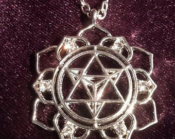 Merkabah Necklace - merkabah  occult  lightbody healing meditation metatron  gothic boho witch
