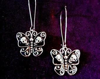 Butterfly Skull Metamorphose Earrings