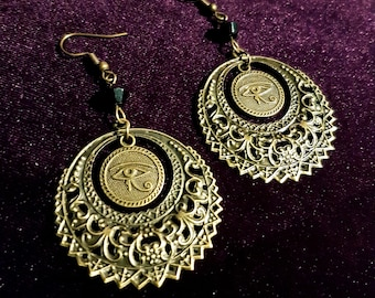 Eye of Horus Mandala Earrings
