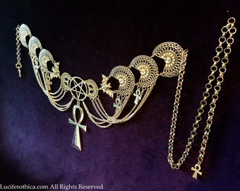Vampire Hip Chain Ankh Belt