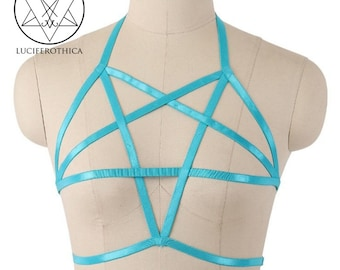 Turquoise Inverted Pentagram Harnass