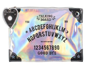 Make Up Pouch Ouija Spirit Board - Gothic Goth Make Up Bag Brush