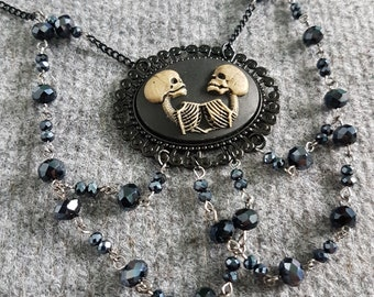 Twin Skeleton Necklace