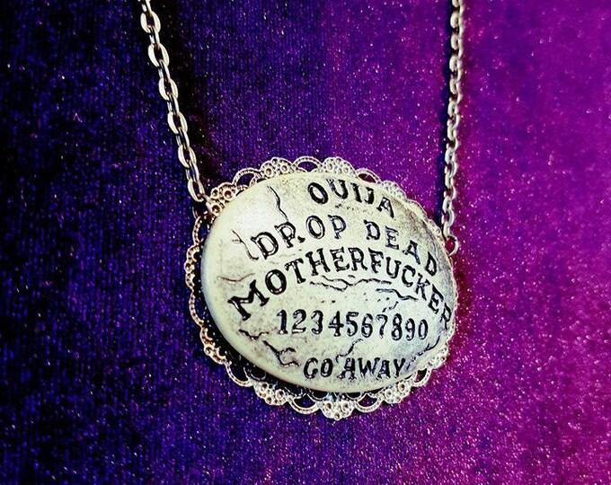 Ouija Necklace - ouija spirit board drop dead motherfucker gothic gothstyle gothic fashion medium astral