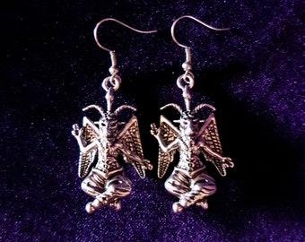 Baphomet Earrings (2 styles).