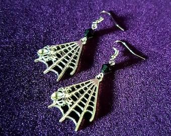 Spider Web Earrings