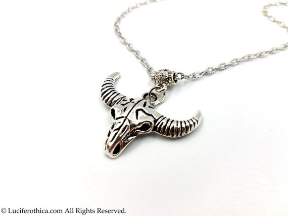 occult sigil of baphomet satanic necklace goth gothic left hand path Baphomet Trident Pendant