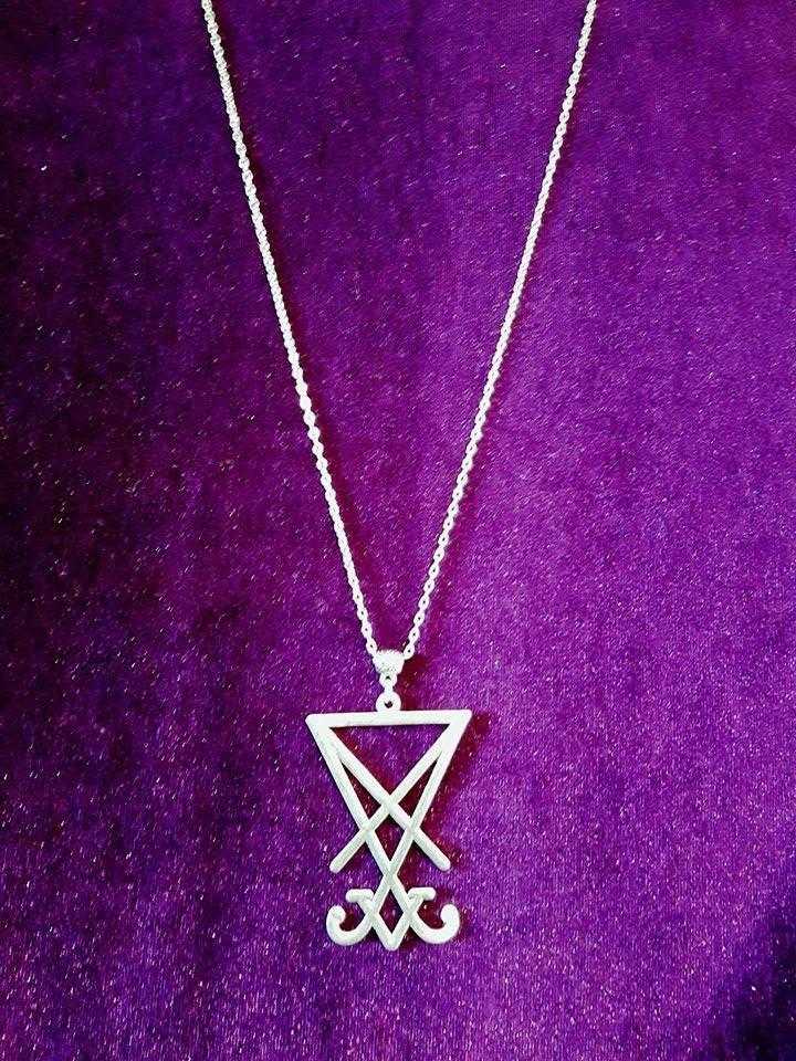Big Sigil of Lucifer Necklace - lucifer sigil of lucifer samael