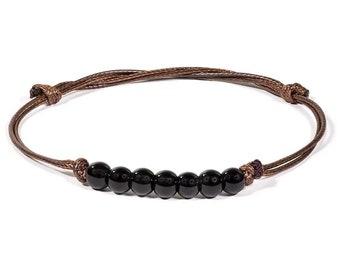Black Tourmalin Seven Beads Bracelet