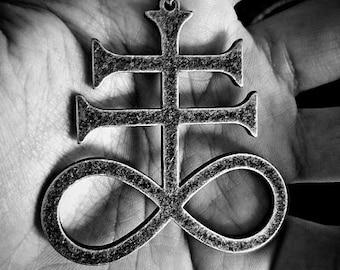 Big Satanic Cross | Brimstone | Leviathan Pendant
