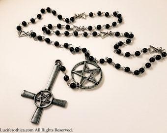 Satanic Inverted Cross Rosary