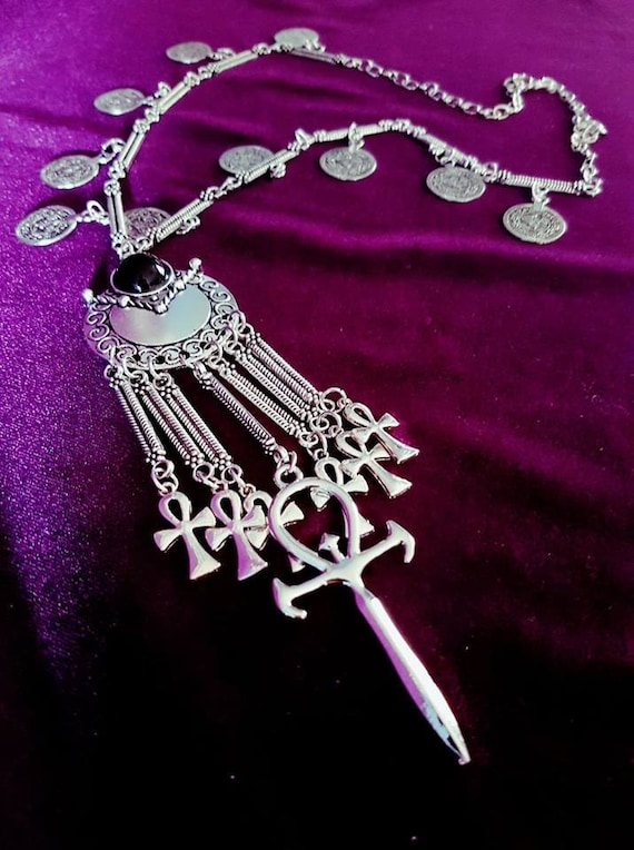 Double sided Ankh Earrings occult order goth gothic dracula vampyre