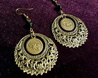 Eye of Horus Mandala Earrings