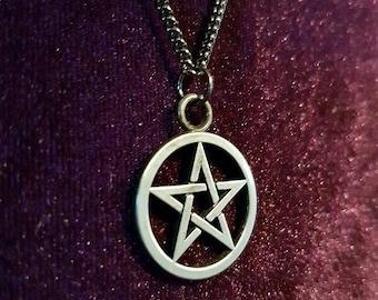Gunmetal Pentagram Necklace