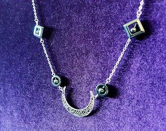 Crescent Hematite Necklace