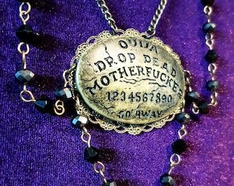 Ouija Drop Dead Necklace