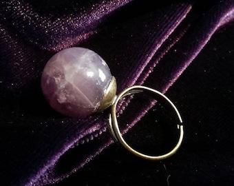 Sphere Gemstone Rings (Several gemstones available)