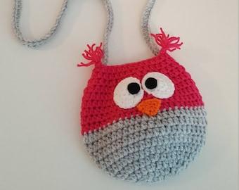 Crochet Owl Purse, handbag, little girls, handmade