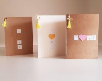 Standard size love cards