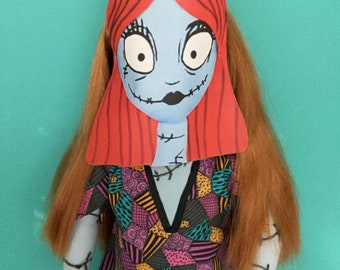 Nightmare Before Christmas Sally Costume  (Mask, Jack Necklace and more) for all 18 in. Dolls (American Girl, Our Generation, etc)