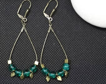 Pine Green dangling earrings